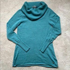 Smartwool merino blend shawl collar sweater S
